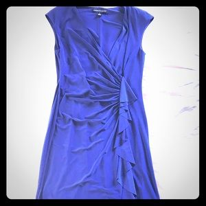 Royal blue America Living v neck ruched dress